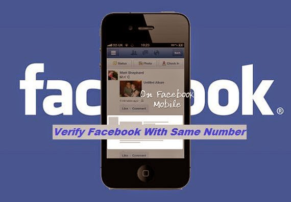 Verify Two Facebook Accounts by Same number image picture