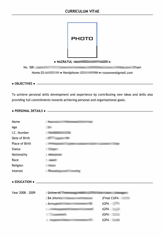 Resume saya
