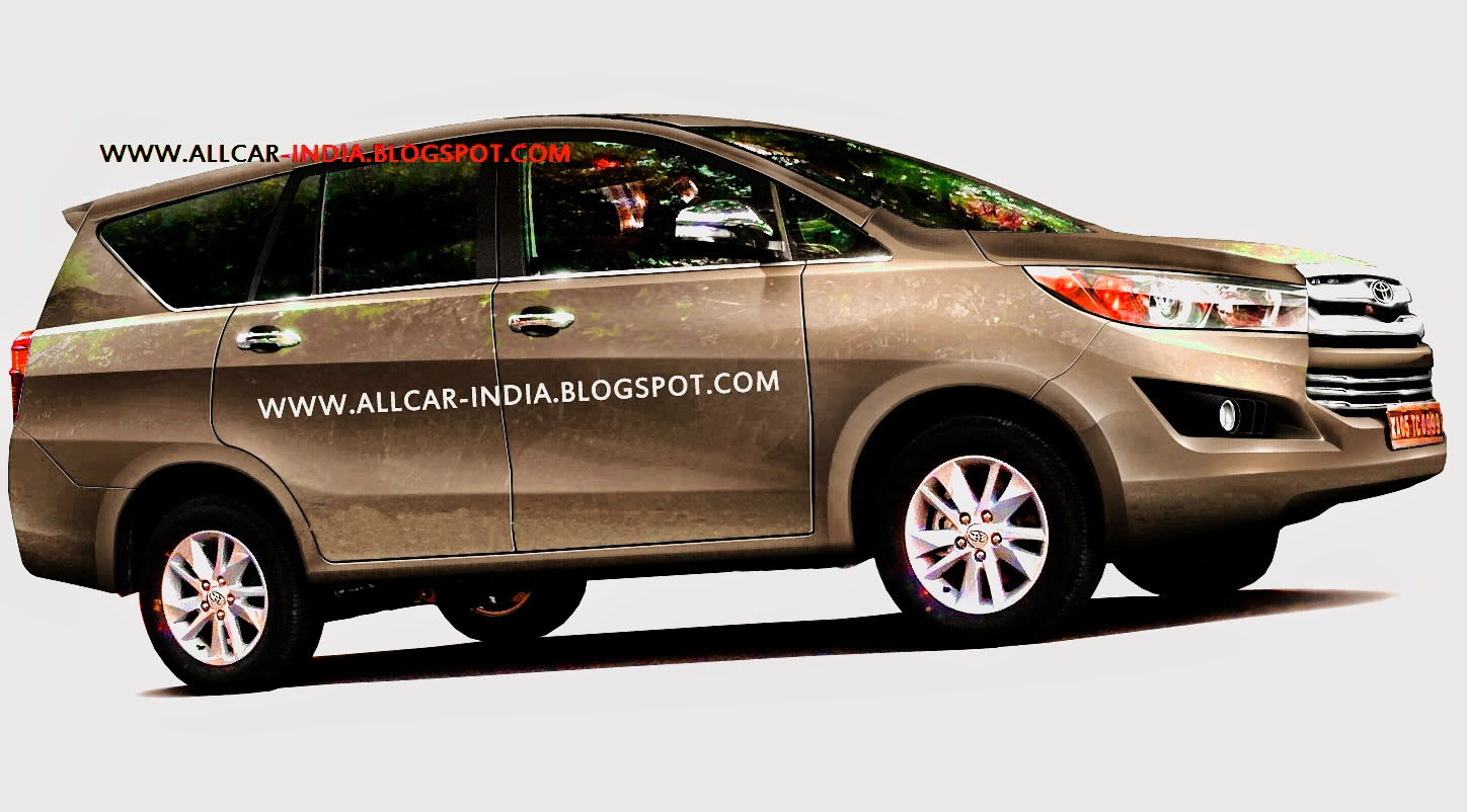 AUTOMOTIVE CRAZE: Next-generation Toyota Innova spied in India