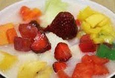 cara membuat, membikin, mengolah es puding segar spesial (istimewa), sedap, nikmat