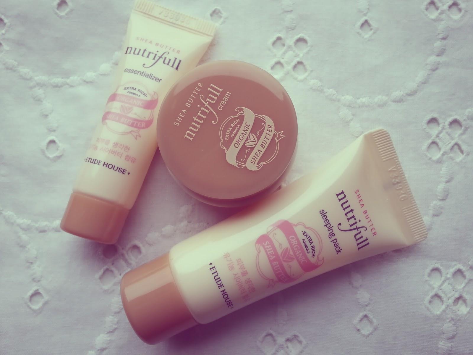 Etude House Shea butter nutrifull skin care kit