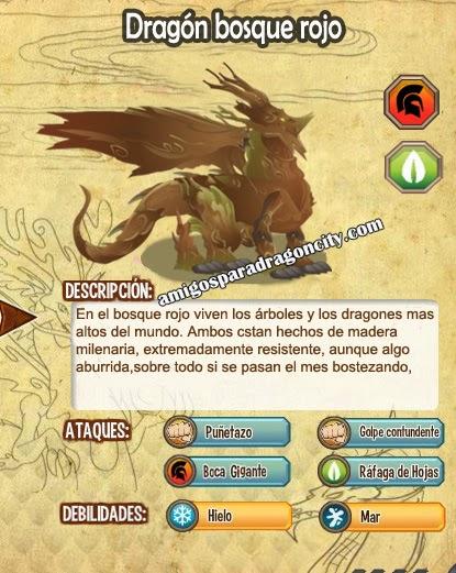 imagen de las caracteristicas del dragon bosque rojo