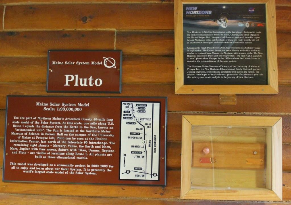 Maine solar system model Pluto
