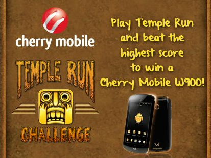 Contest: Play Temple Run and Win a Cherry Mobile W900!