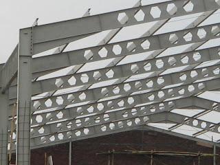 desain rangka baja untuk pabrik