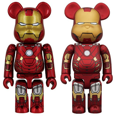 Marvel x Medicom The Avengers Movie - Iron Man Mark VII 100% & 400% Be@rbricks