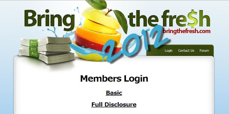 Bring The Fresh Members Site Login
