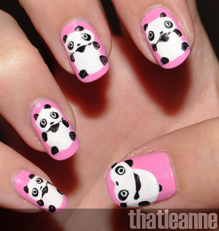 Thatleanne tare panda nail art i thought id add some cuteness after the halloween posts and do a san x nail art you might have heard of tare panda if not here is some panda nail art prinsesfo Image collections