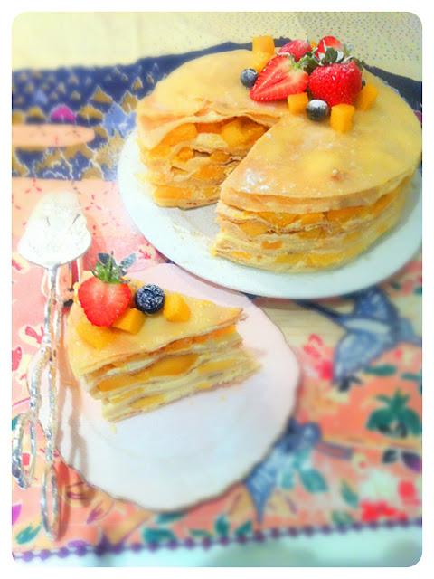 Cherie Kelly's Mango Mille Crêpes Cake