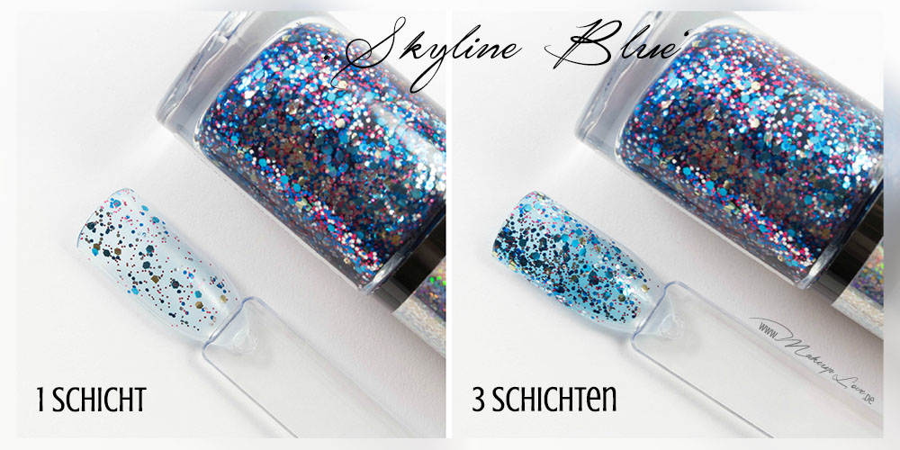 Maybelline Colorshow Nagellacke | BE brilliant! Kollektion skyline blue swatch