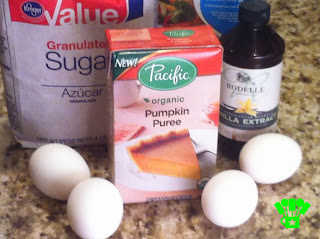 Pumpkin Cream Cheese Cupcake Ingredients