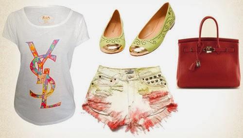 t-shirts look inspiração verão