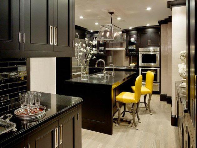 ديكور مطبخ أسود