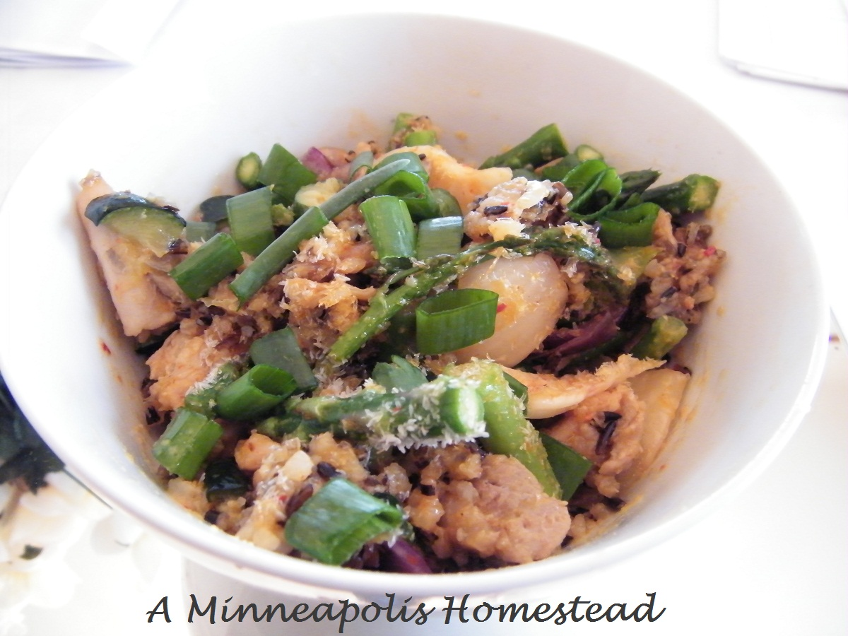 Minneapolis Homestead: Kimchi Chicken Wild Fried Rice