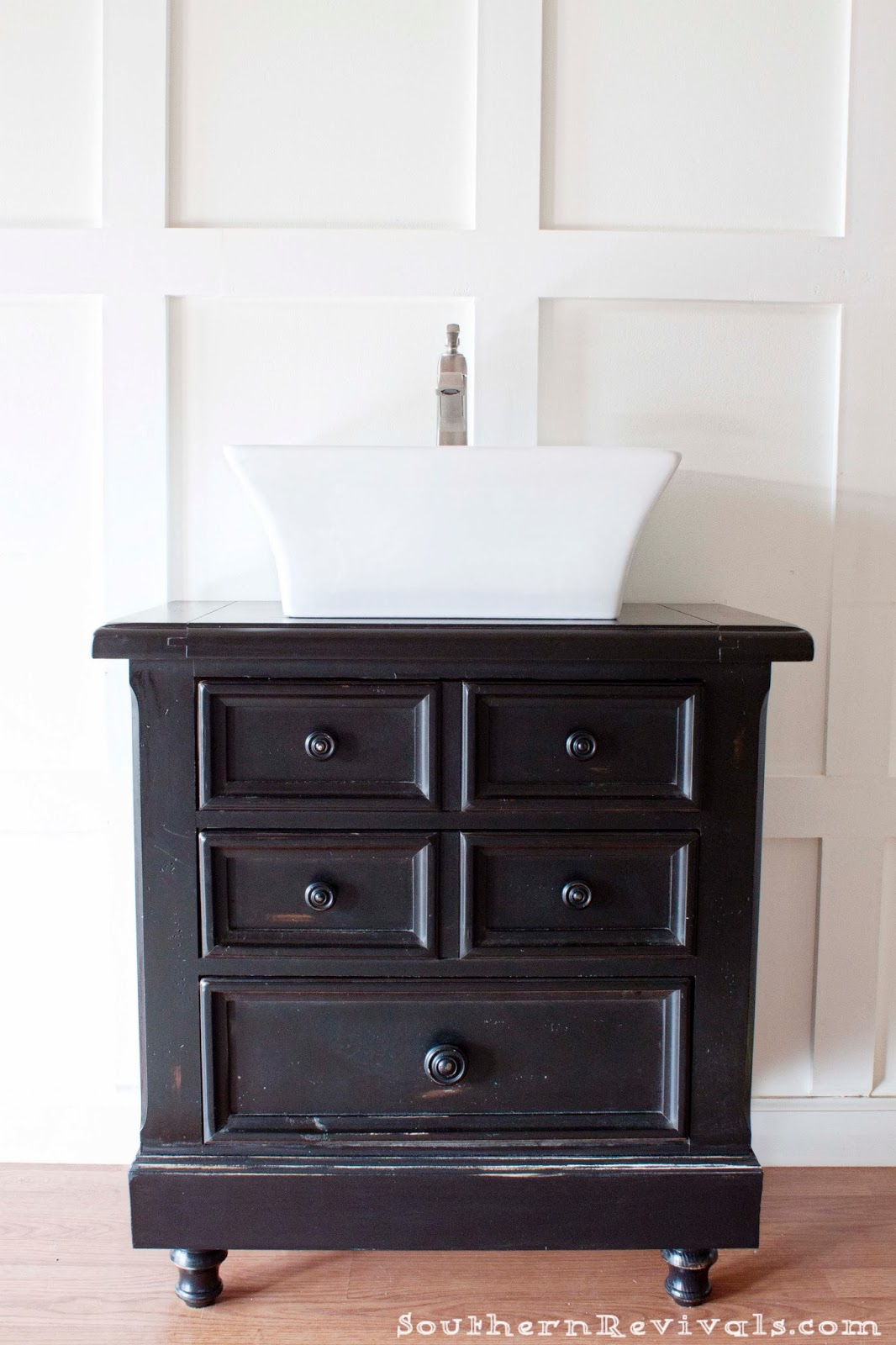 Turning Our Nighstand into a DIY Bathroom Vanity