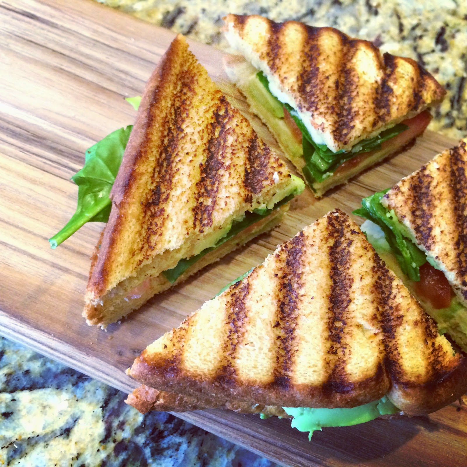 Avocado & Tomato Grilled 'Cheese' - I Don't Go to the Gym