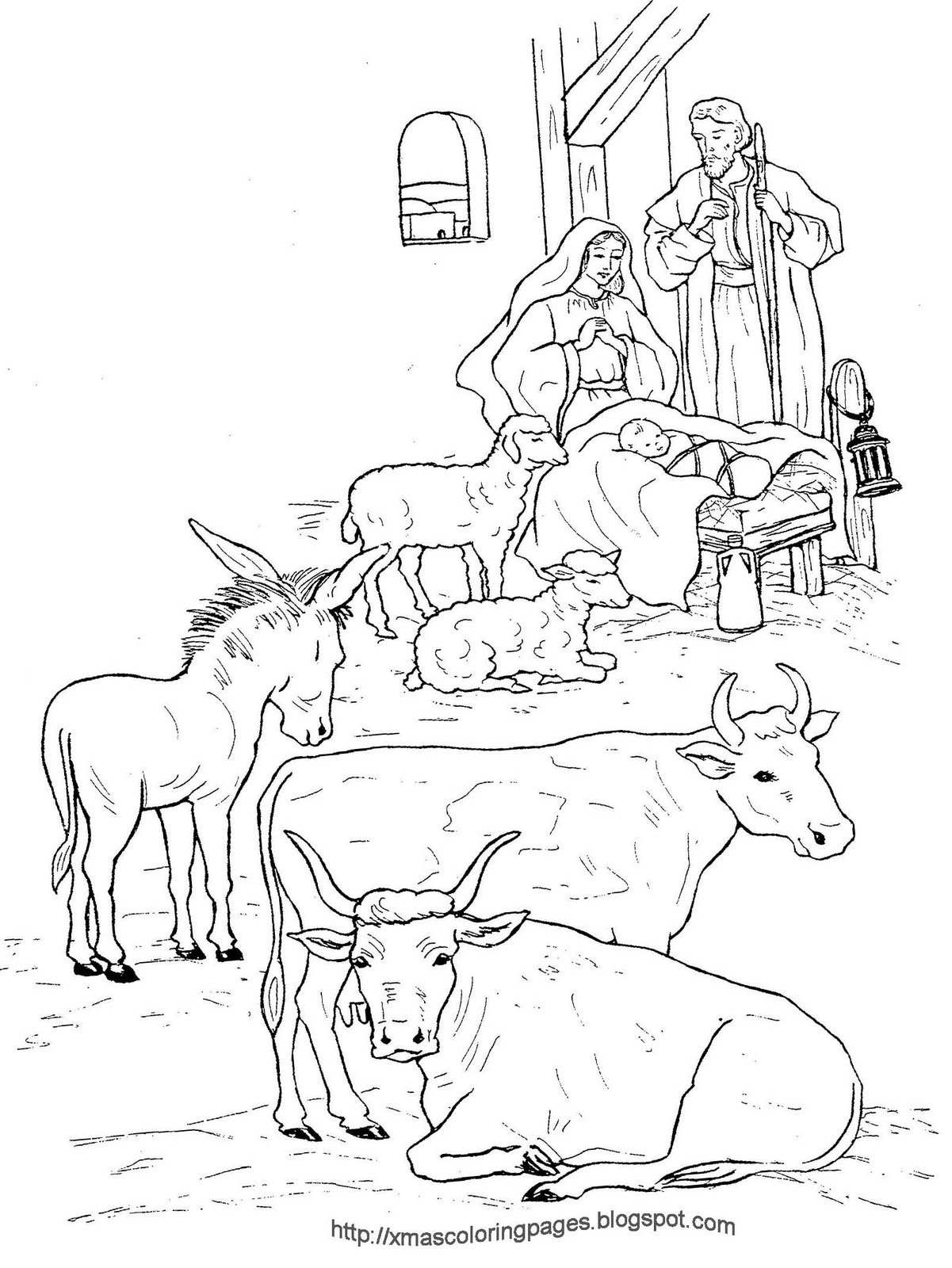 nativity animals coloring pages xmas coloring pages
