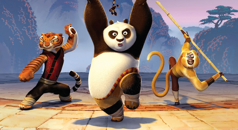 Kung Fu Panda (2008) from DreamWorks Animation. Directed by John Stevenson and Mark Osborne. Written by Jonathan Aibel and Glenn Berger.