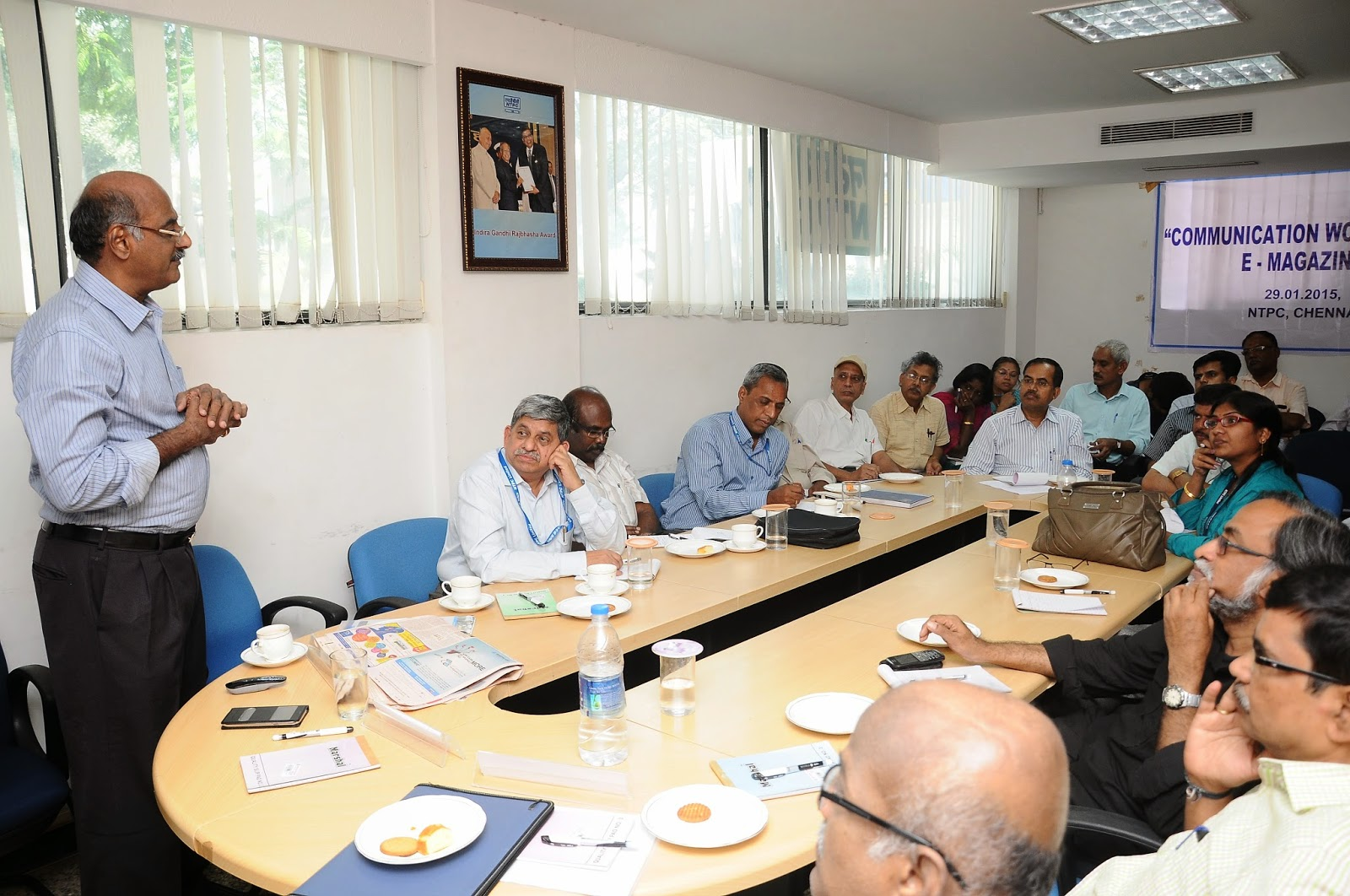 Prime Point Srinivasan addressing NTPC officials