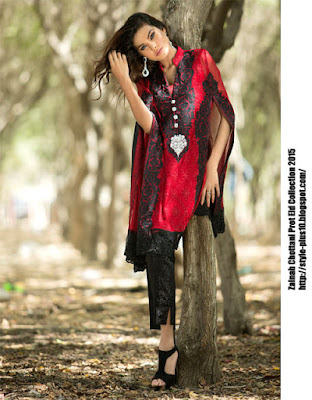 bright-red-cape-made-of-chiffon-zainab-chottani-eid-pret-2015