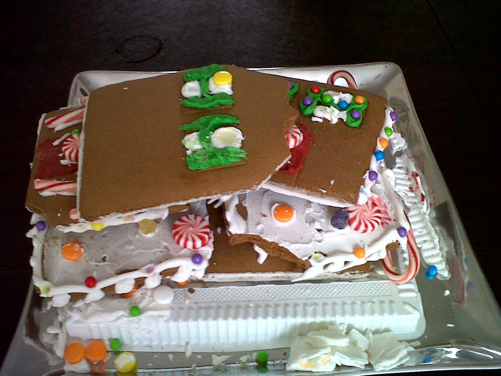 Redneck Gingerbread Houses Cardboard-like gingerbread