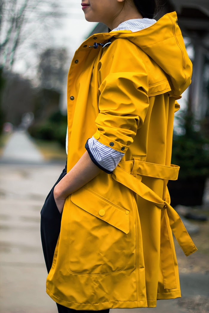 Girls Yellow Fashion Trenchcoat