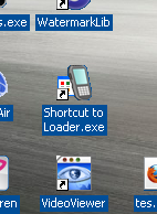 shortcut loader blackberry pada laya desktop