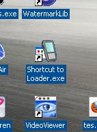 shortcut loader blackberry pada laya desktop
