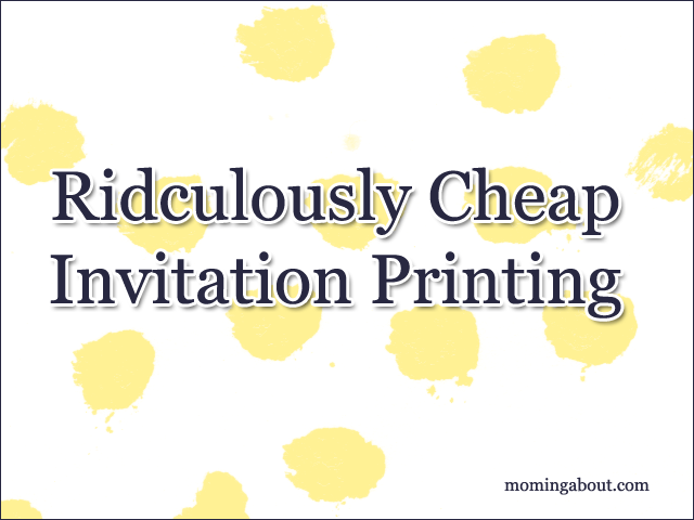 Cheap Invitations & Cards