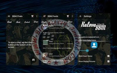 BBM Mod Terbaru Tema Ralova Transparan Versi 2.10.0.35