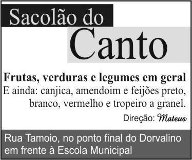 SACOLÃO DO CANTO