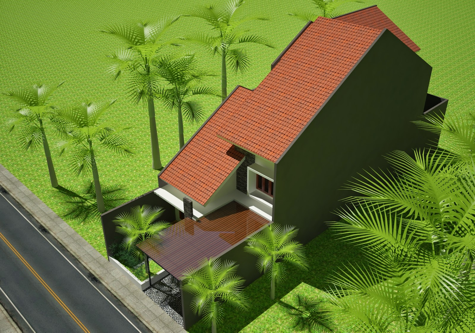 Rumah minimalis Sejuk 2 Lantai, Kesukaan Sang Ibu