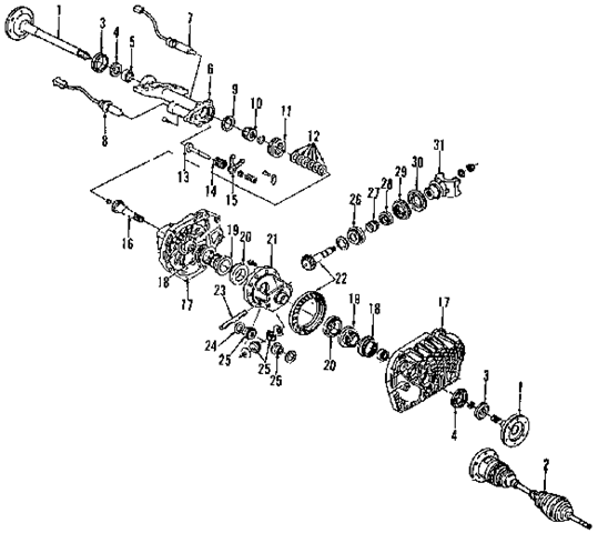 The 1999 Gmc 1500 Sierra Pickup Front Drive Axle System