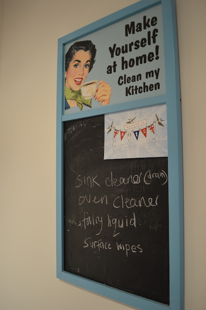 Retro 1950s kitchen chalk board