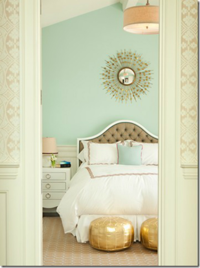 Coastal home inspirations on the horizon sea foam green for Seafoam blue paint color