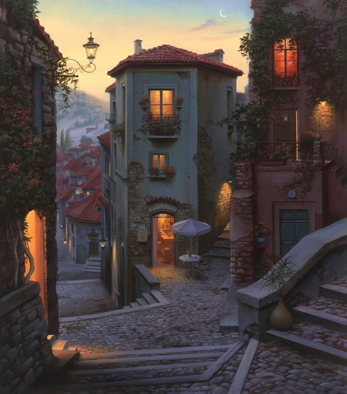 06-Campobasso-Evgeny-Lushpin-Scenes-of-Realistic-Night-Time-Paintings-www-designstack-co