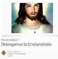 Firmas contra la cristianofobia en change.org