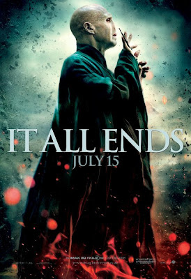 "Harry Potter and the Deathly Hallows Part 2 ""It All Ends"" Character Movie Poster Set - Ralph Fiennes as Lord Voldemort"