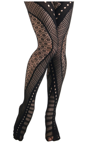 Modcloth black patterned stockings