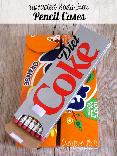 Creative itch upcycled soda box pencil cases for Easy diy recycled projects