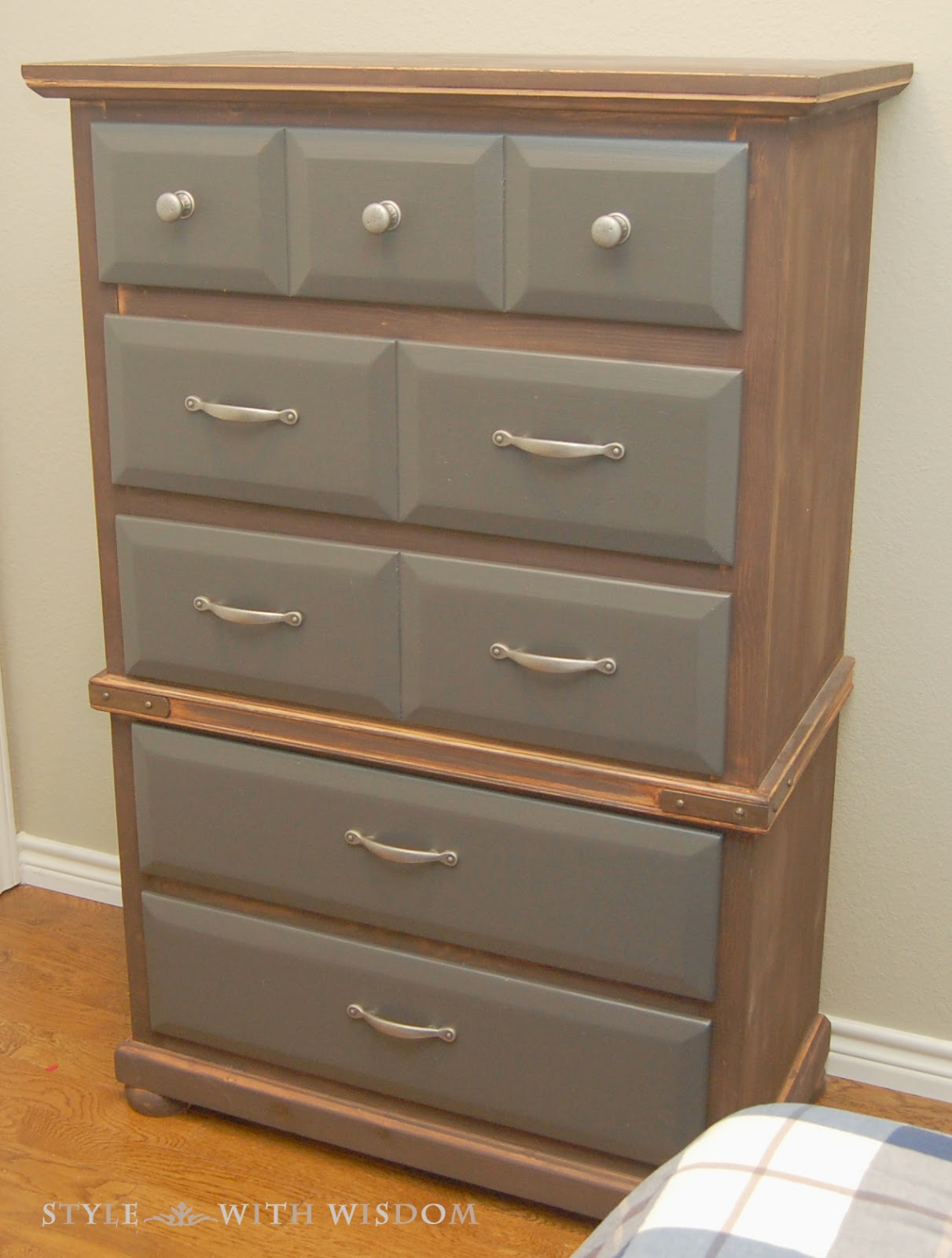Dresser transformation paint and stain