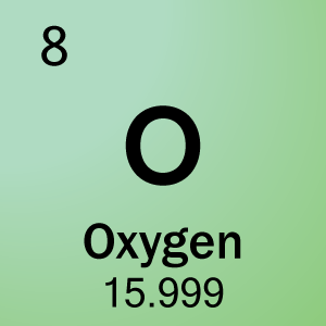 For example, oxygen has an atomic mass of 15 999  We round that off to