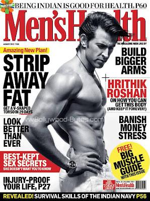 Hrithik Roshan on Cover of Men's Health Magazine August 2012