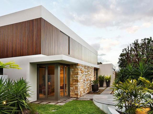 gambar desain eksterior rumah modern