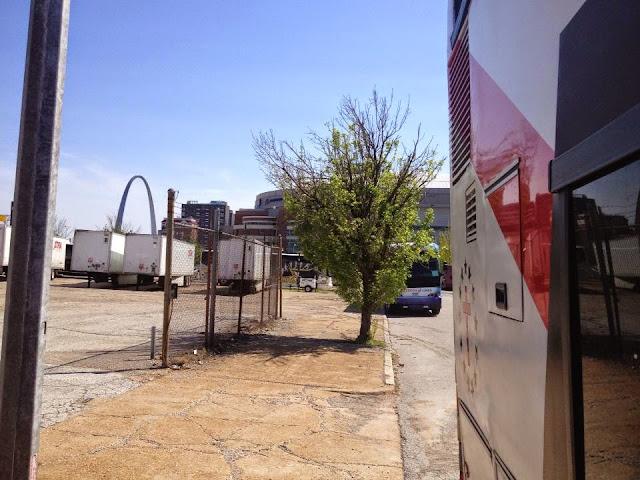 Bus Leaving St. Louis