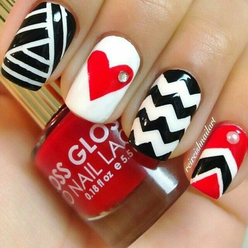 Nails Ideas With Heart Shape