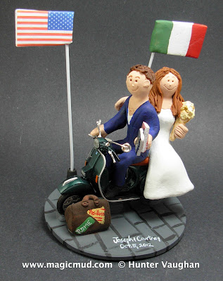 italy usa cake topper
