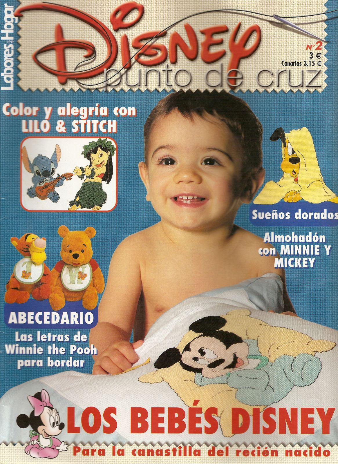 Revistas: Disney Punto de Cruz 1 y 3