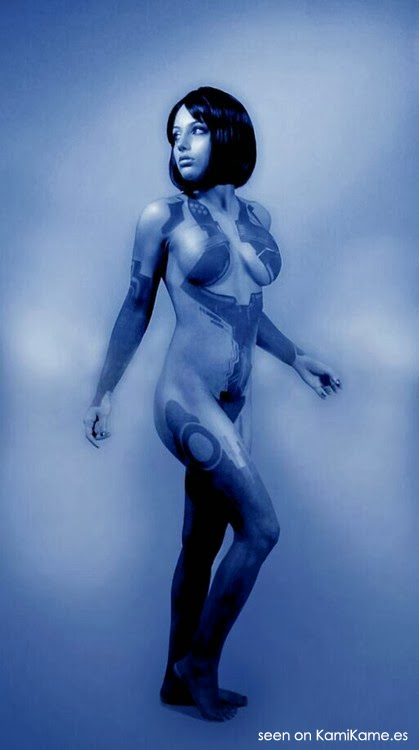 body paint de cortana