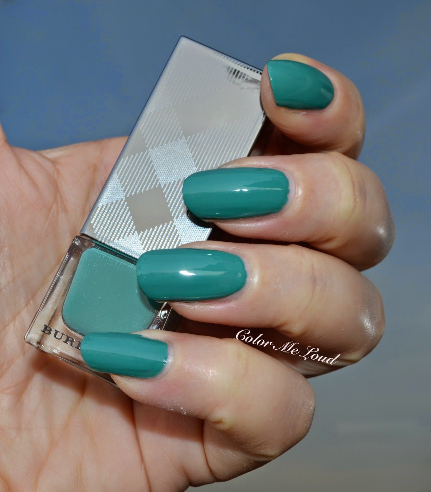 Burberry Nail Polish #418 Aqua Green